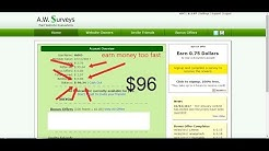 earn money with awsurveys too fast(no hack)