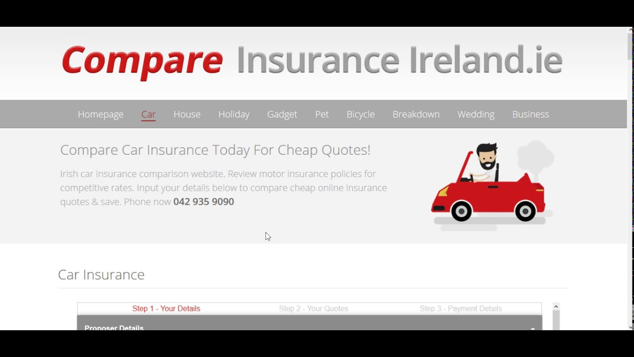 Car Insurance Quotes From Compareinsuranceireland Youtube