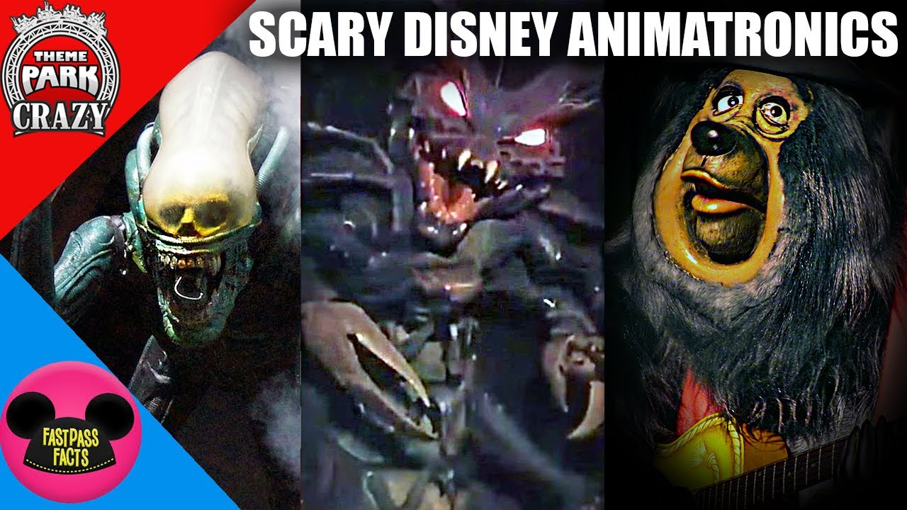 Top 15 SCARIEST Disney Animatronics (feat. Fastpass Facts)