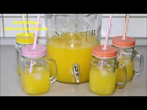 2 Portakal ve 1 limondan 4 lt Limonata yapimi - evde kolay limonata tarifi-Nurmutfagi