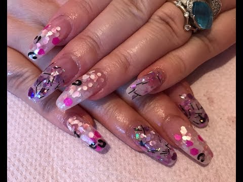 Acrylic Nails confetti style - also review of JSDA Professional Nail ...