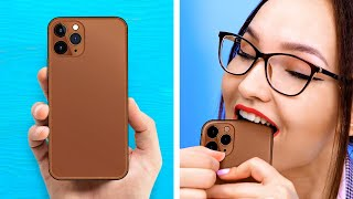 CHOCOLATE PHONE And Other Funny Ways To Sneak Food Anywhere || Weird Food Pranks And Challenges
