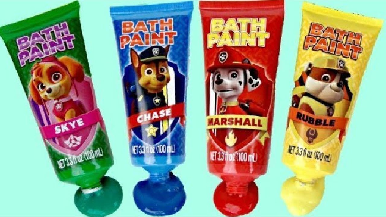 Download Bath Hygiene with Paw Patrol Paddlin' Pups Paint Activity for Kids