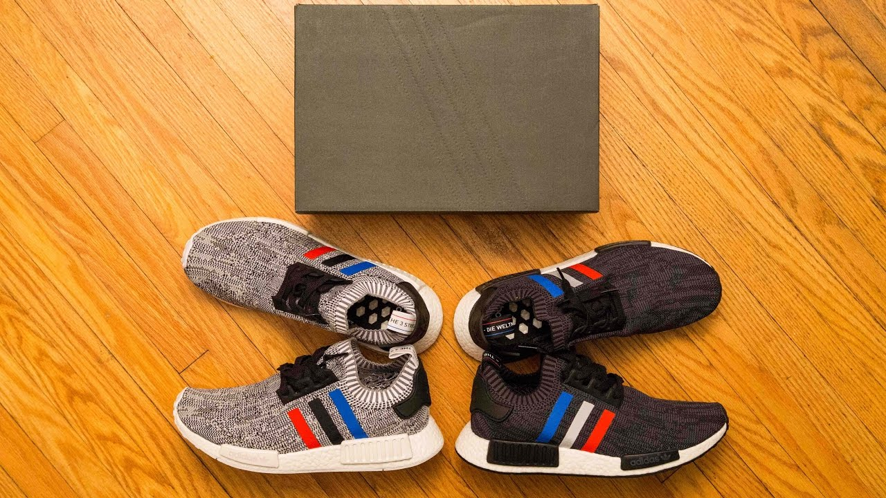 Adidas NMD Black Tri Color Primeknit on feet review