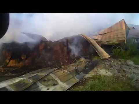 Helmet Cam Structure Fire Barn
