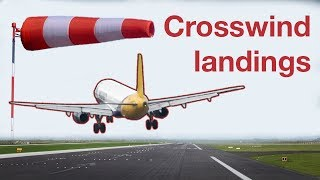 How to do a CROSSWIND LANDING in a Boeing 737NG