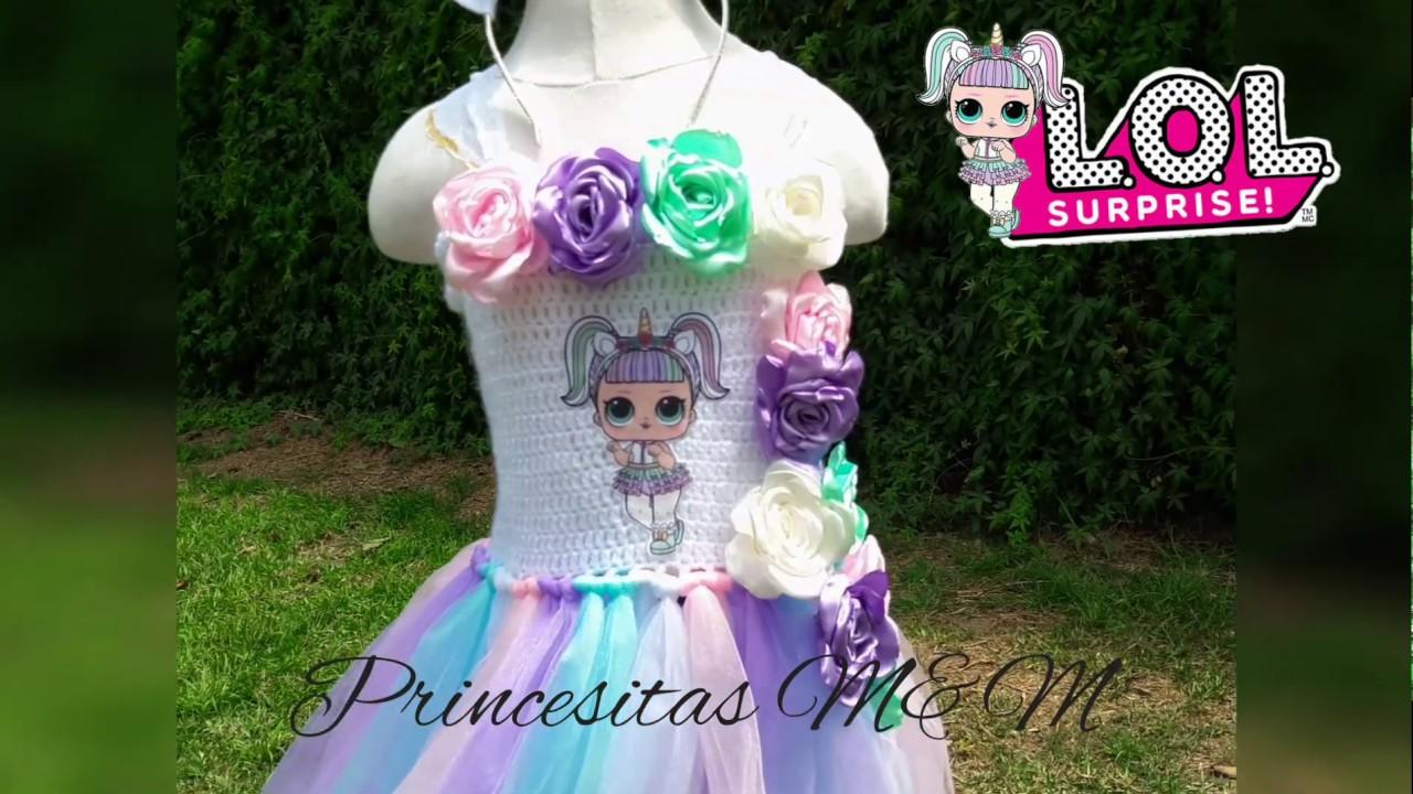 Lol Surprise Unicornio Precioso Vestido Tutu Princesitas
