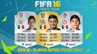 FIFA 16 - PLAYER RATING PREDICTIONS | Mexico Players in Europe