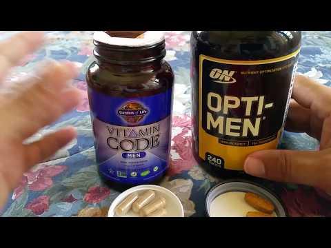 Vitamin Code Men Versus Optimum Nutrition Men vitamins