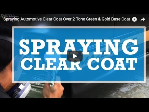 Spraying Automotive Clear Coat Over 2 Tone Green & Gold Base Coat