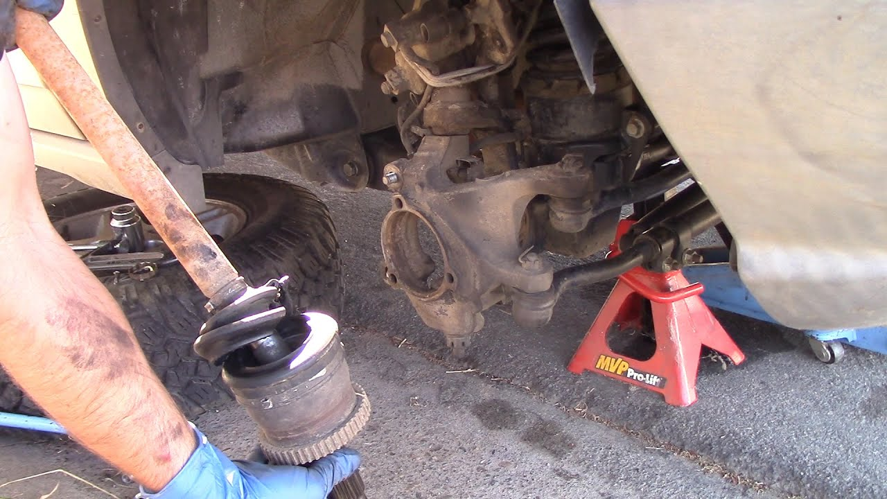 hight resolution of how to replace a front hub axle 99 04 grand chreokee