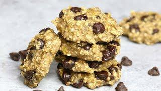 Banana Oatmeal Chocolate Chip Cookies Healthy 3 Ingredient