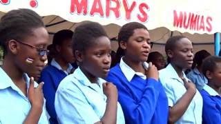 SCHOOL GIRLS DANCING NIKUPENDEZE BY MERCY MASIKA ...AFRIKWEAR ENTERTAINMENT UNIT AT ST MARY