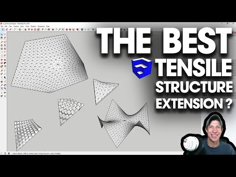 THE BEST TENSILE STRUCTURE EXTENSION for SketchUp? Checking Out