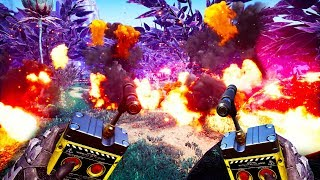 I Created An Automatic Explosives Factory And Blew Up The Earth in Satisfactory