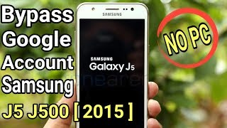 How To Bypass Google Account Samsung J5 J500F 2015 Tanpa PC/Komputer