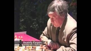 Karpov beaten by a 13-yr-old Magnus Carlsen