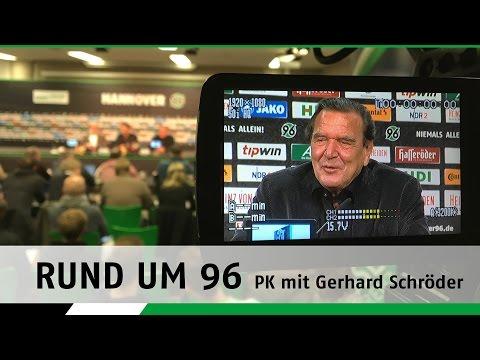Rund um 96 | PK mit Gerhard Schröder & Martin Kind