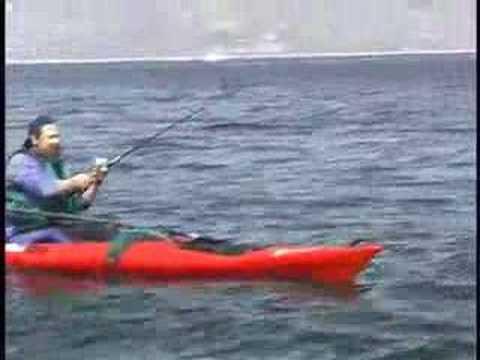 kayak fishing with Spike