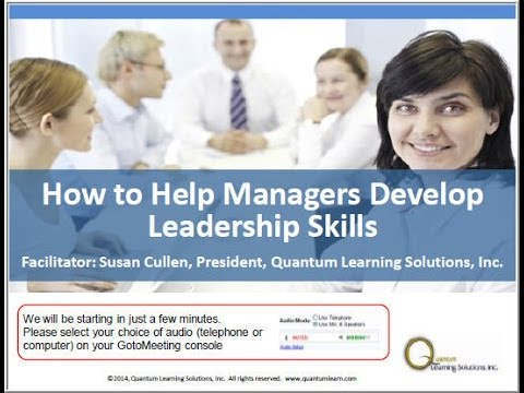 How to Help Managers Develop Leadership Skills