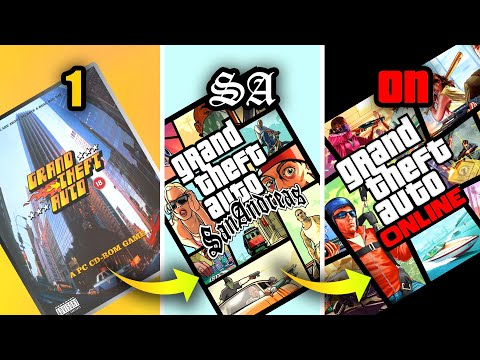 HOW the COVER ART has CHANGED GTA GAMES 1997-2019 (Boxart Evolution)