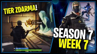 WHERE is the FOURTH FREE TIER FOR SEASON 7 (Week 7)-Fortnite Battle Royale CZ/SK