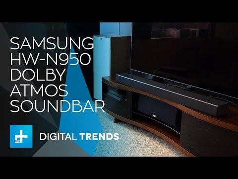 Samsung Hw N950 Dolby Atmos Soundbar Hands On Review Youtube