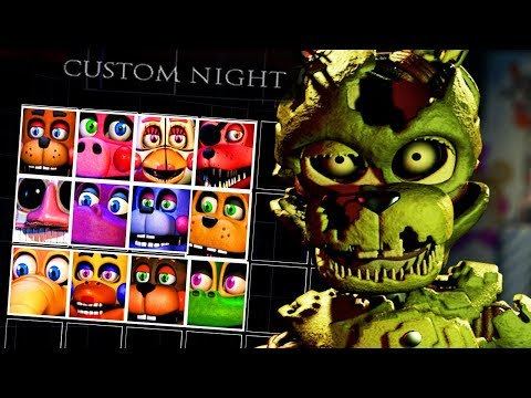 40 *NEW* ANIMATRONICS ARE COMING TO THE GAME  Five Nights at Freddys 6 ULTIMATE Custom Night
