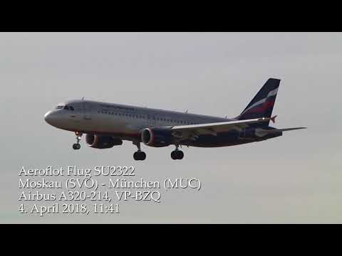 Aeroflot-Flug SU2322 Moskau-München Airbus A 320