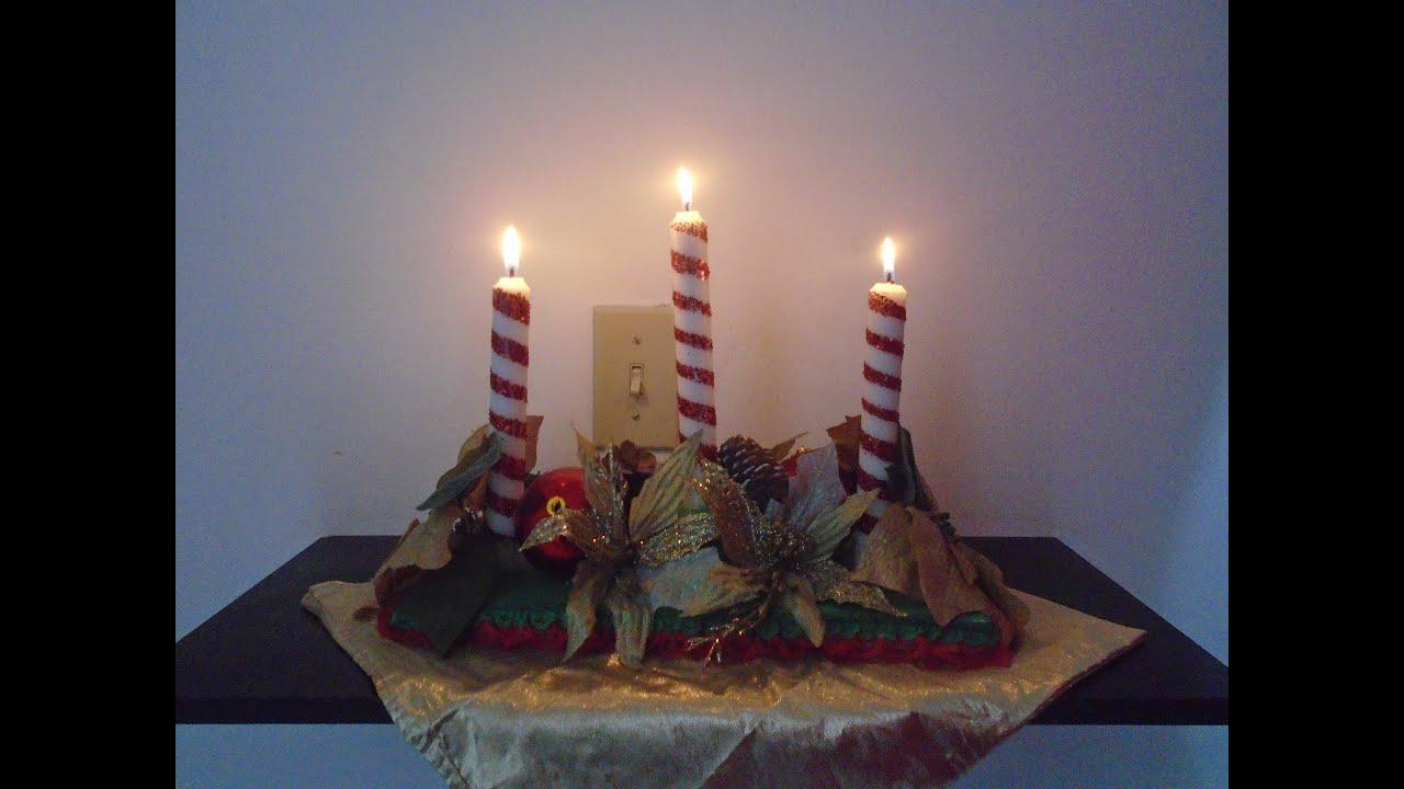 centro de mesa para navidad diy