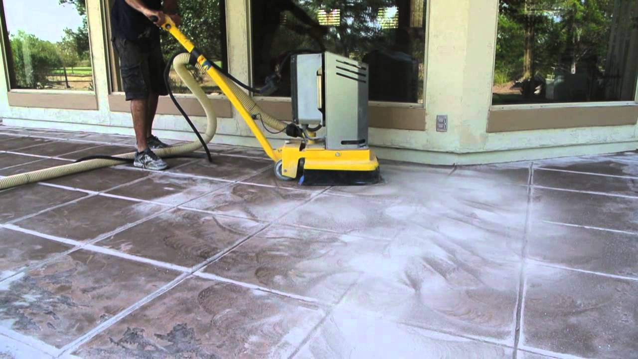 removing paint from concrete patio youtube. Black Bedroom Furniture Sets. Home Design Ideas