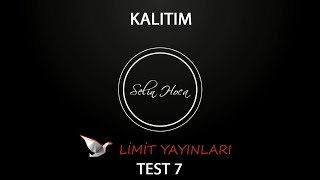 62) Limit Yayınları - Kalıtım - Test #7