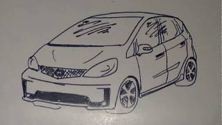 Cara Menggambar Mobil Honda Jazz Youtube