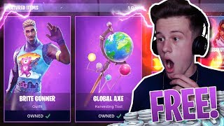"*NEW* FORTNITE ""Brite Gunner"" SKIN GAMEPLAY! BRITE BAG + More UNLOCKED!"