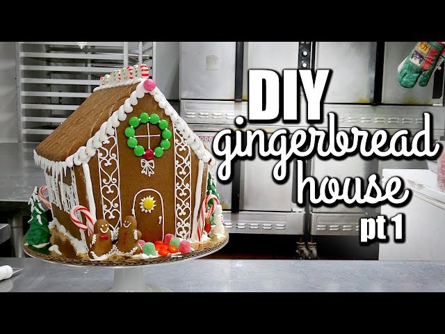 EASY Gingerbread House Tutorial for beginners- Cutting the Pieces!