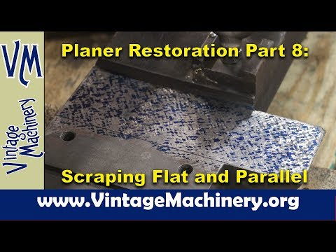 New Haven Metal Planer Restoration - Part 8: Scraping Flat and Parallel