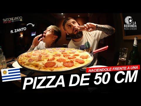 HACIENDOLE FRENTE A UNA PIZZA DE 50 CM con Zanto en Uruguay