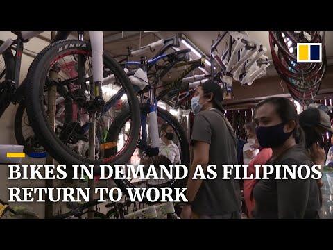coronavirus:-filipinos-scramble-to-buy-bikes-as-they-return-to-work