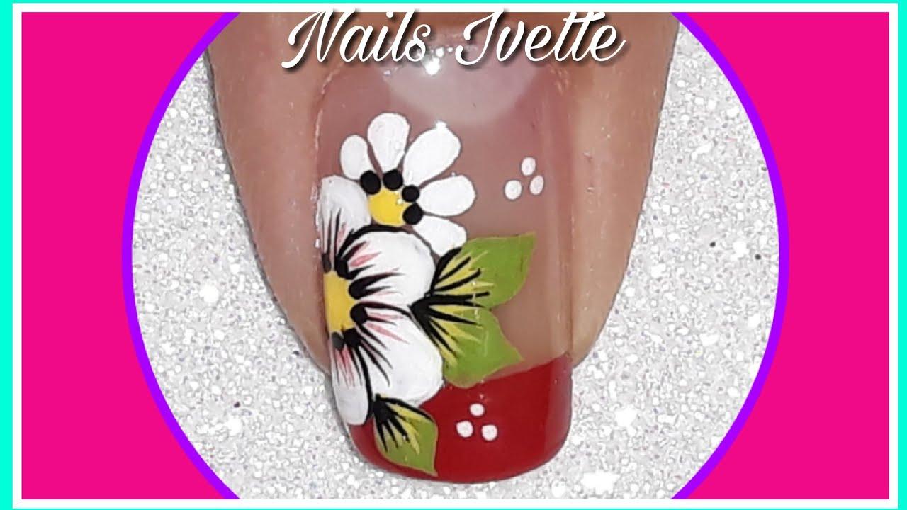 Flores Diseño De Uñas