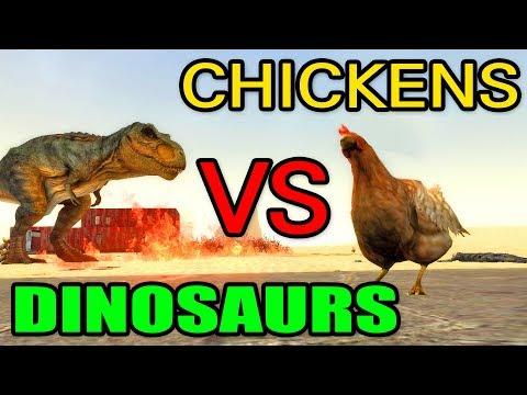 "CHICKENS VS DINOSAURS! // Gmod ""More Chicken SNPCs"" Mod Testing (Garry's Mod) thumbnail"