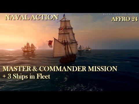 Naval Action - Master and Commander Mission with 3 Ships in Fleet