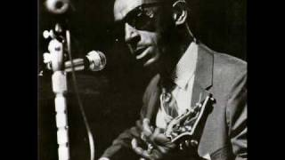 Fred Mcdowell playing at Newport Blues festival.