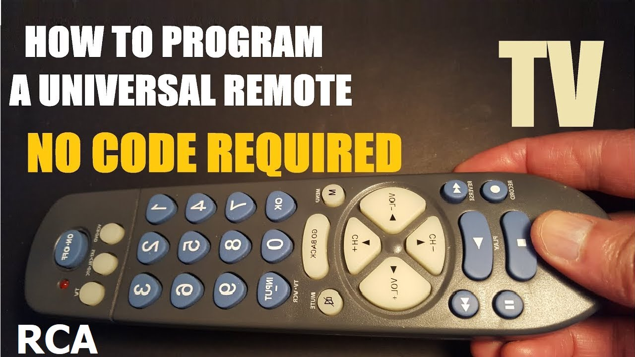 Download How to program a universal TV remote control, no code required