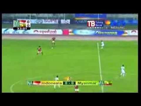 INDONESIA VS MYANMAR 1 - 0 Sea Games Myanmar 2013 (selebrasi sujud sukur)