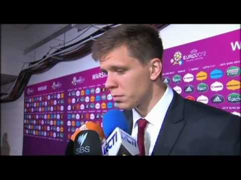 English interview with Poland's Wojciech Szczęsny after the opening game of the Euro 2012