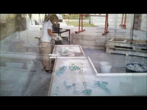 Recycled Glass Countertop Projects