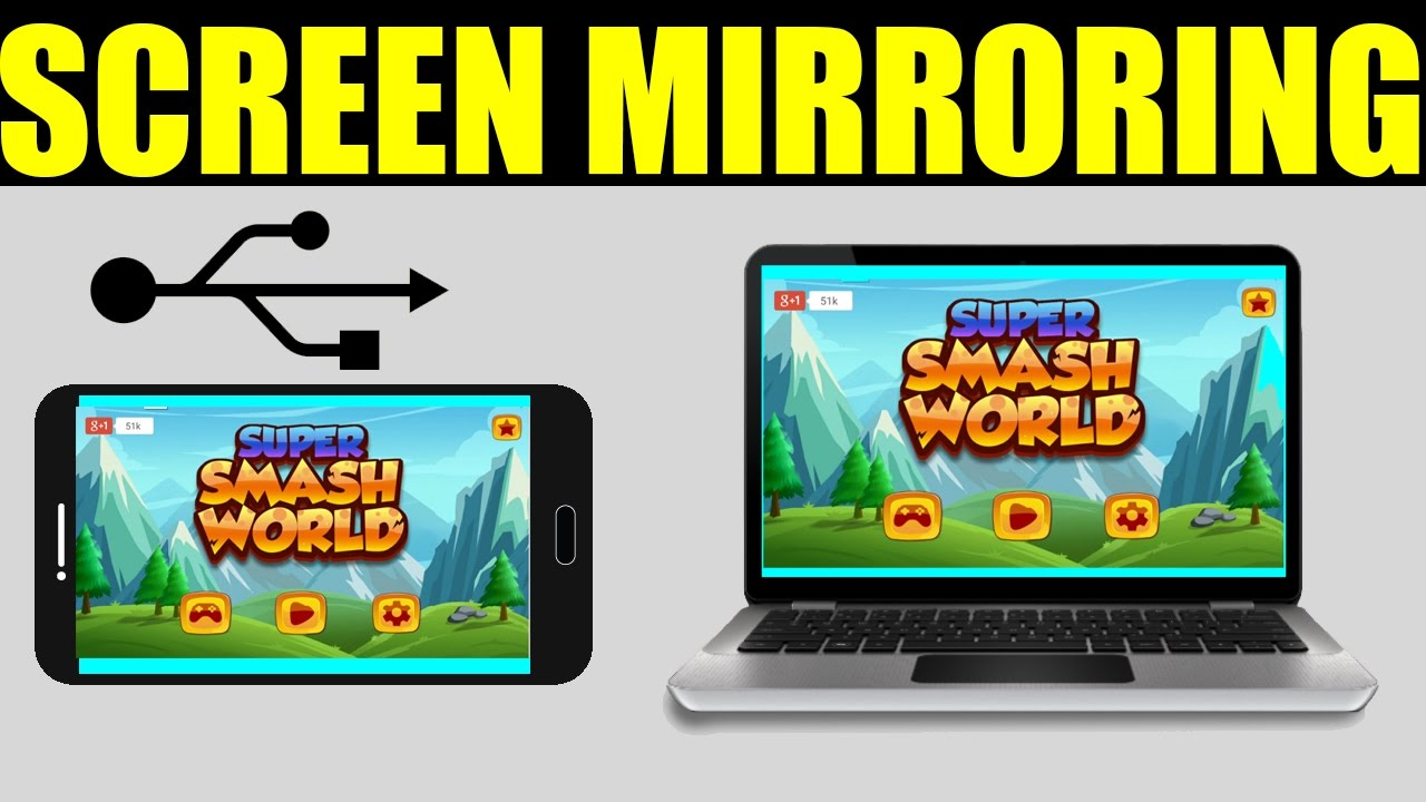 How to mirror your android screen phone to pc via usb no for Mirror your android screen to a pc