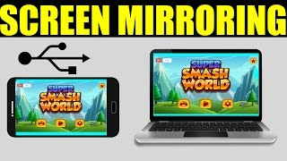 How to MIRROR Your Android Screen Phone To PC Via USB - NO ROOT (STRAIGHT TO THE POINT)