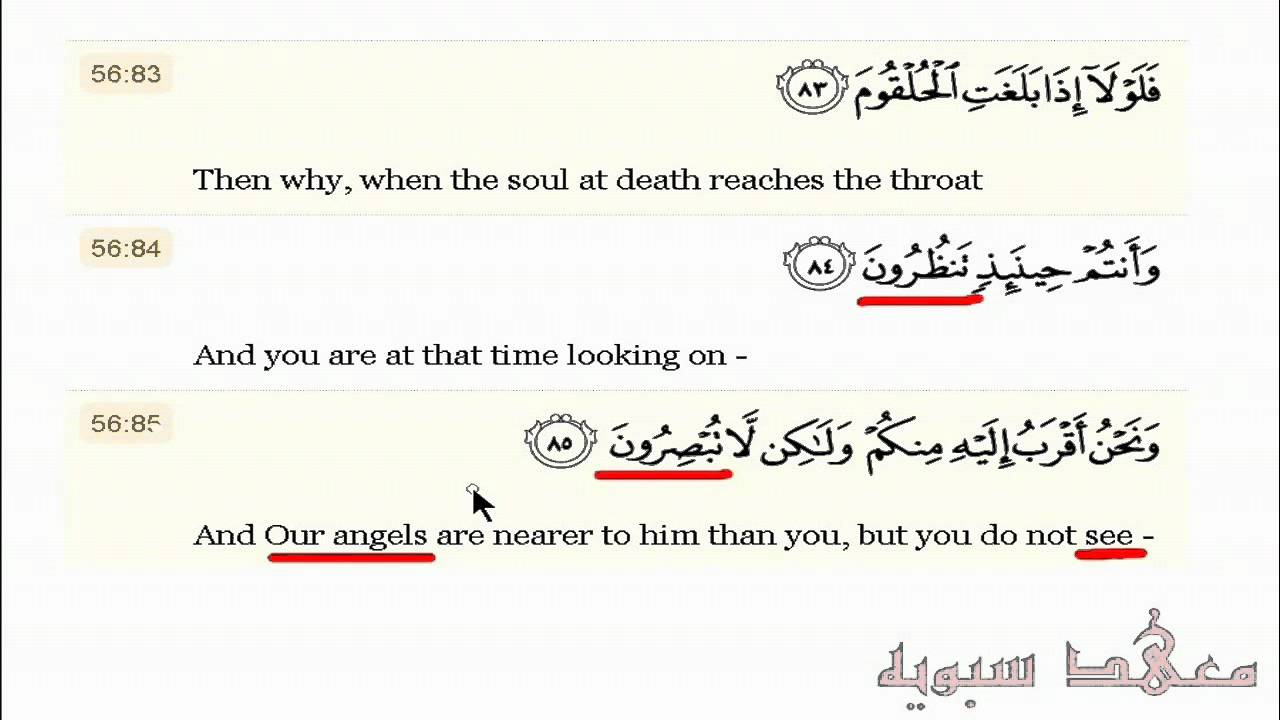 Different Words For Seeing In The Quran Syn01 Sample Youtube