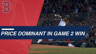 Price stymies Dodgers to help Sox win World Series Game 2